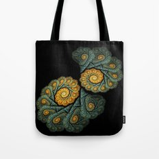 twin spirals on black Tote Bag