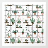 Modern Succulents Art Print