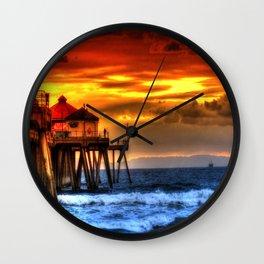 Northside Huntington Beach Pier Wall Clock