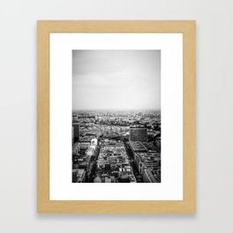 Berlin aerial cityscape photography print berlin poster city photography black and white Framed Art Print