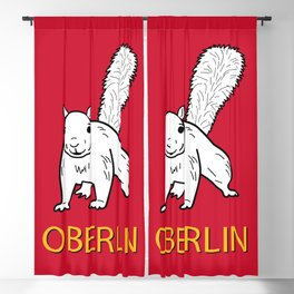 Cute Oberlin White Squirrel Illustration Blackout Curtain