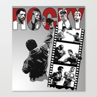 saga Canvas Prints featuring Rocky Saga by The Black Lodge
