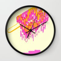 popsicle Wall Clocks featuring Popsicle by Dewey Bryan Saunders