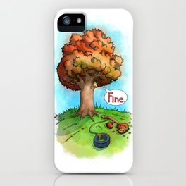 Trees Done With Life 2 iPhone Case