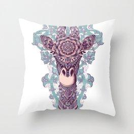 Giraffe (Color Version) Throw Pillow
