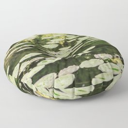 Lilies Green Camouflage Floor Pillow