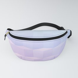 Pastel Cube Pattern Ombre 1 - pink, blue and vi Fanny Pack