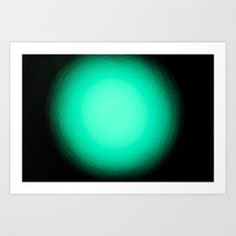 Luz verde Art Print