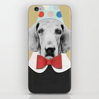 pooh iPhone & iPod Skins featuring Doggy Pooh the Clown by cafelab