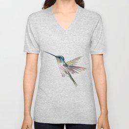 Flying Little Hummingbird Unisex V-Neck