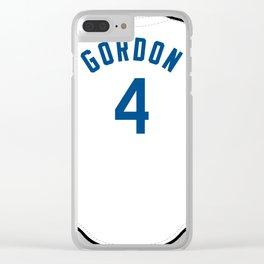 Alex Gordon jersey Clear iPhone Case
