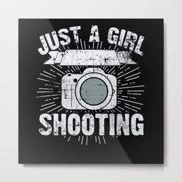 Camera Photographer Girl Metal Print