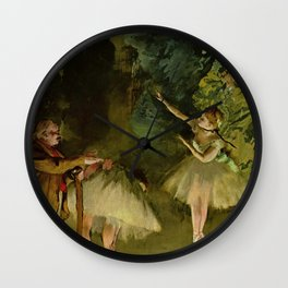 Ballet Rehearsal By Edgar Degas | Reproduction | Famous French Painter Wall Clock