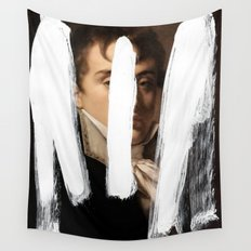 Brutalized Portrait of a Gentleman 2 Wall Tapestry