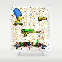 lebron Shower Curtains featuring Young Life by SaintCastro