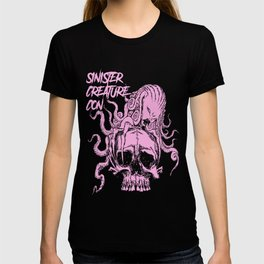 Sinister Creature Con Pink Skull T-shirt