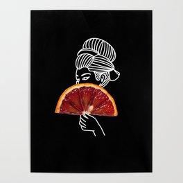 Blood Orange Geisha Poster