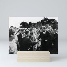 President John F. Kennedy and The Peace Corps Mini Art Print