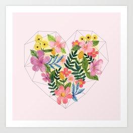 Floral Heart Art Print
