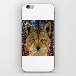 Long Night Coyote iPhone Skin