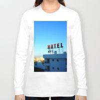 budapest hotel Long Sleeve T-shirts featuring Hotel by Elliott Kemp Photography