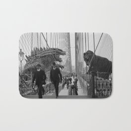 Old Time Godzilla vs. King Kong Bath Mat
