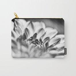 White Dahlia Macro Carry-All Pouch