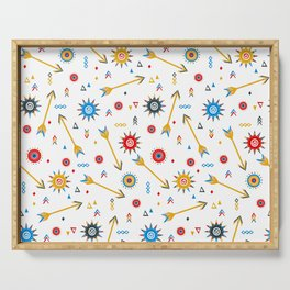 Ditsy print with geometric shapes Serving Tray