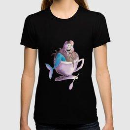 mermaid love coffee T-shirt