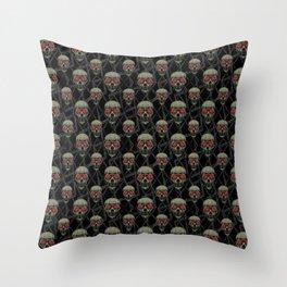 Skulls Motif Pattern Throw Pillow