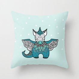 Magical Dragon Throw Pillow