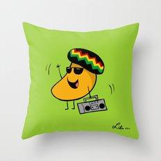 Jamaican Mango Throw Pillow