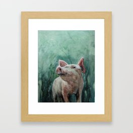 One Bad Pig Framed Art Print
