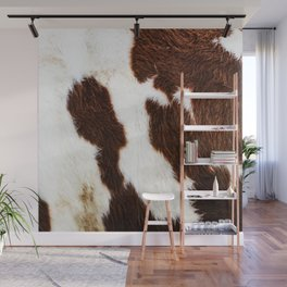 Cowhide Brown Spots Wall Mural