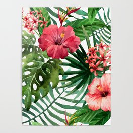 FLOWERS WATERCOLOR 8 Poster