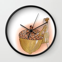 The Giant Acorn Wall Clock