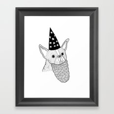 Dog Wizard Framed Art Print
