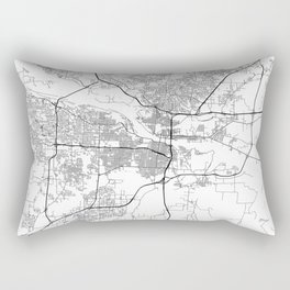 Minimal City Maps - Map Of Little Rock, Arkansas, United States Rectangular Pillow