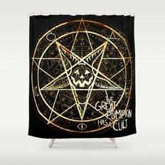 Cult of the Great Pumpkin: Pentagram Shower Curtain