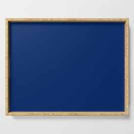 Royal Blue Solid Color Serving Tray
