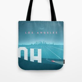 Vintage Los Angeles Travel Poster Tote Bag