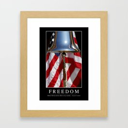 Freedom: Inspirational Quote and Motivational Poster Framed Art Print