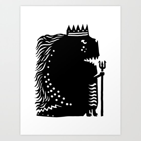 Black king Art Print