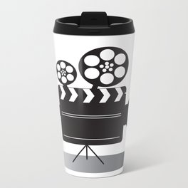 Video Camera Metal Travel Mug