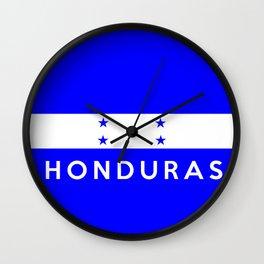 Honduras country flag name text Wall Clock