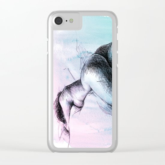 Nude female 3 Clear iPhone Case