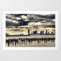 January On The Hudson Art Print