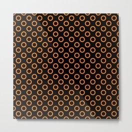 Orange Rings with Black Background Metal Print