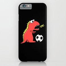 Black Cartoon Dinosaur Soccer iPhone 6 Slim Case