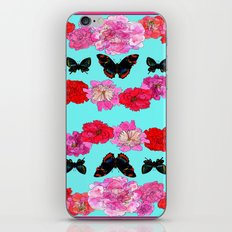 Butterflies and Peonies iPhone & iPod Skin
